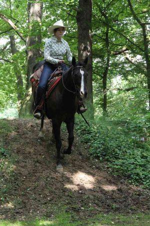 Ranch Trail, Hügel: Clara Breuer und Kings Little Bueno